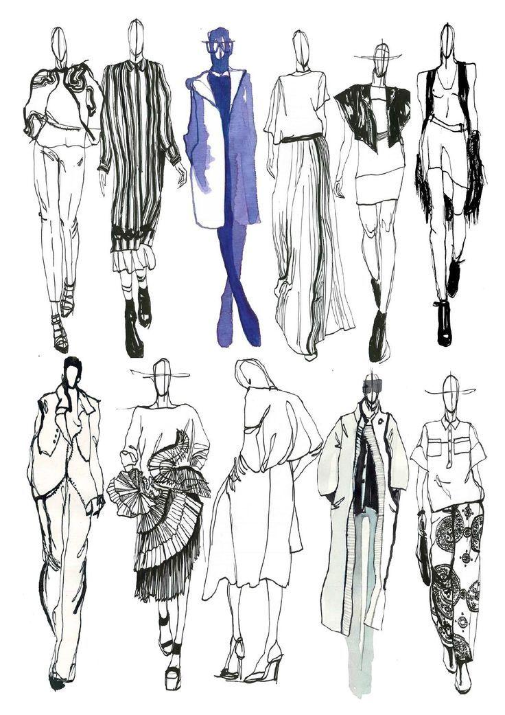 Fashion Sketchbook - fashion sketches; line up; fashion illustrations; fashion portfolio // Mia Jadrna: