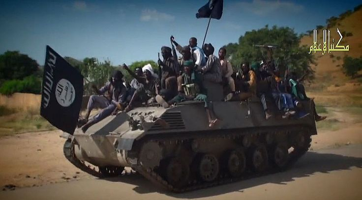 Boko Haram kills more people than ISIS as total hits historic high  http://pronewsonline.com  A screengrab taken on November 9, 2014 from a new Boko Haram video released by the Nigerian Islamist extremist group Boko Haram and obtained by AFP shows Boko Haram fighters parading on a tank in an unidentified town. © AFP Photo