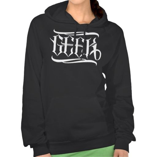 Geek Girl Hoody #geek #lettering #LetterHype