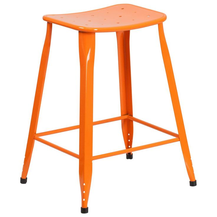 23.75 in. Orange Bar Stool