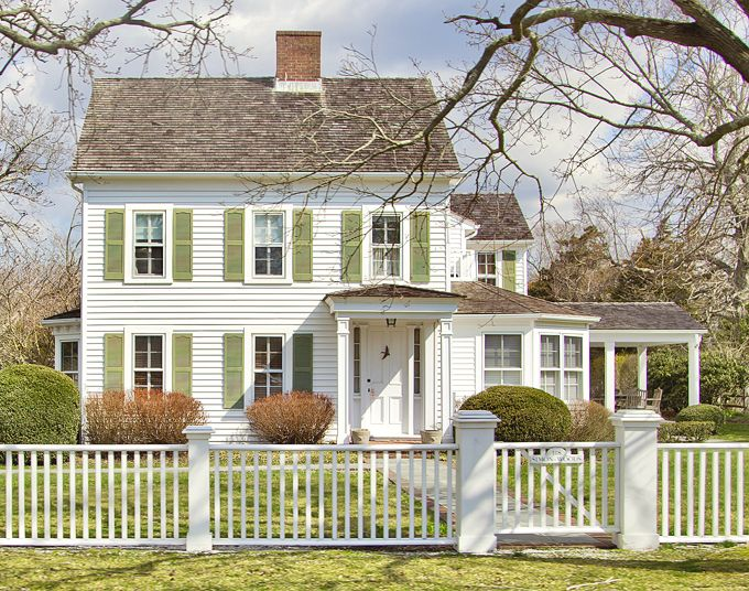 Exterior Columns | sweet and simple home with columns for the front entry and the side porch | Bayer Built Woodworks