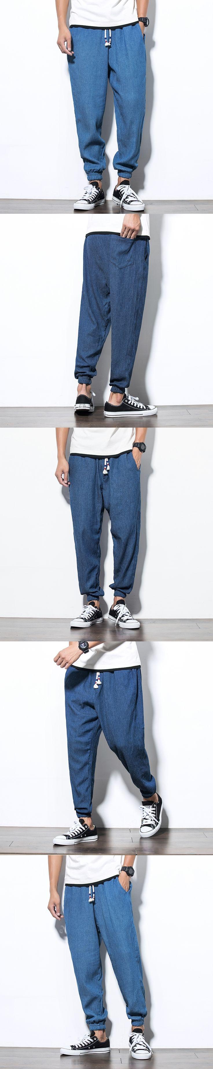 2017 Chinese Style Mens Pants Slim Comfortable Male Harem Pants Hip Pop Pants Man Sweatpans Boys Jogger Big Size M-5XL