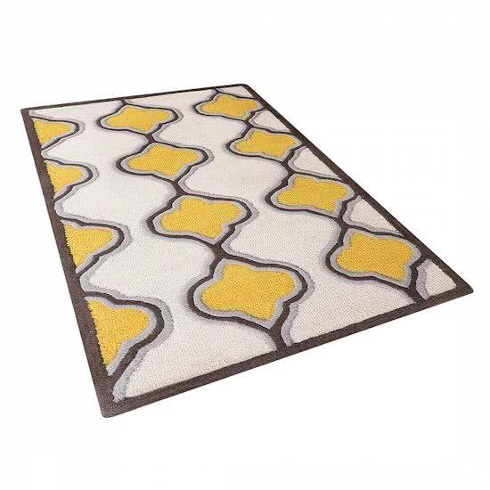 Beliani Tire - Tapijt - Stof - geel - 80x150 cm