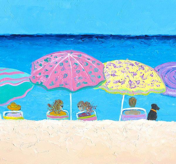 Fun, whimsical beach art, coastal beach decorating, beach house decor.