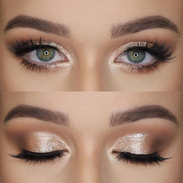 (Maybe something like that, but minus the fake eyelashes, haha) Makeup - Natural eye with a bit of shimmering # wedding makeup