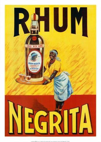 Rhum Negrita | Vintage food & drink poster | #Vintage #Retro #Posters #Affiches #Food #Drinks #Carteles #deFharo