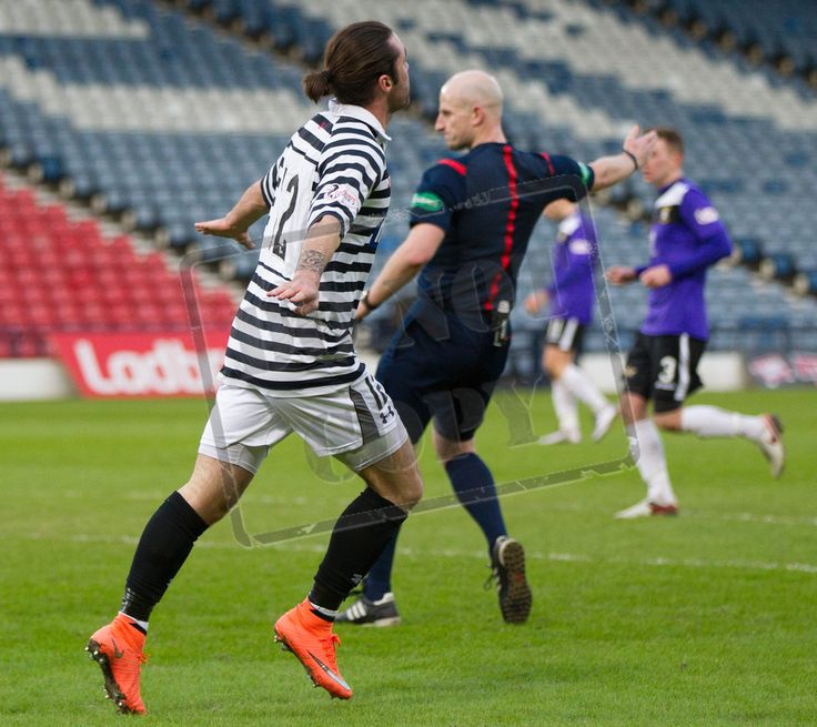 Queen's Park's Chris Duggan celebrates his goal during the SPFL League Two game between Queen's Park and East Fife.