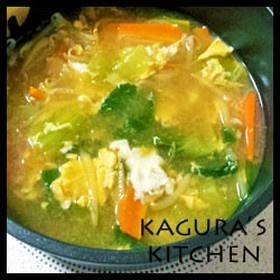 冷え性改善レシピ★チンゲン菜の卵スープ