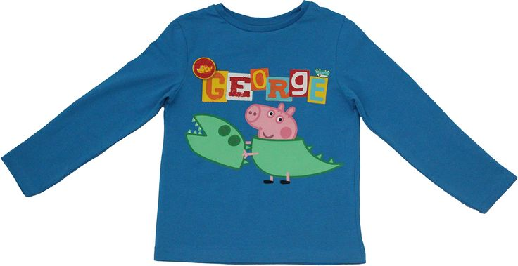 Peppa Pig George Dinosaur Long Sleeved T Shirt By BestTrend Blue 7-8 Years. Peppa Pig George Long Sleeved T-Shirt. Officially Licensed Kids Merchandise. Peppa Pig Clothing From the famous Childrens TV Show. PLEASE VIEW THE BESTTREND STORE FOR LOTS OF PEPPA PIG PRODUCTS.