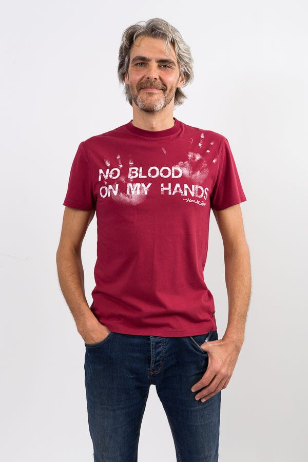 No Blood On My Hands Men's Tee – Viva La Vegan