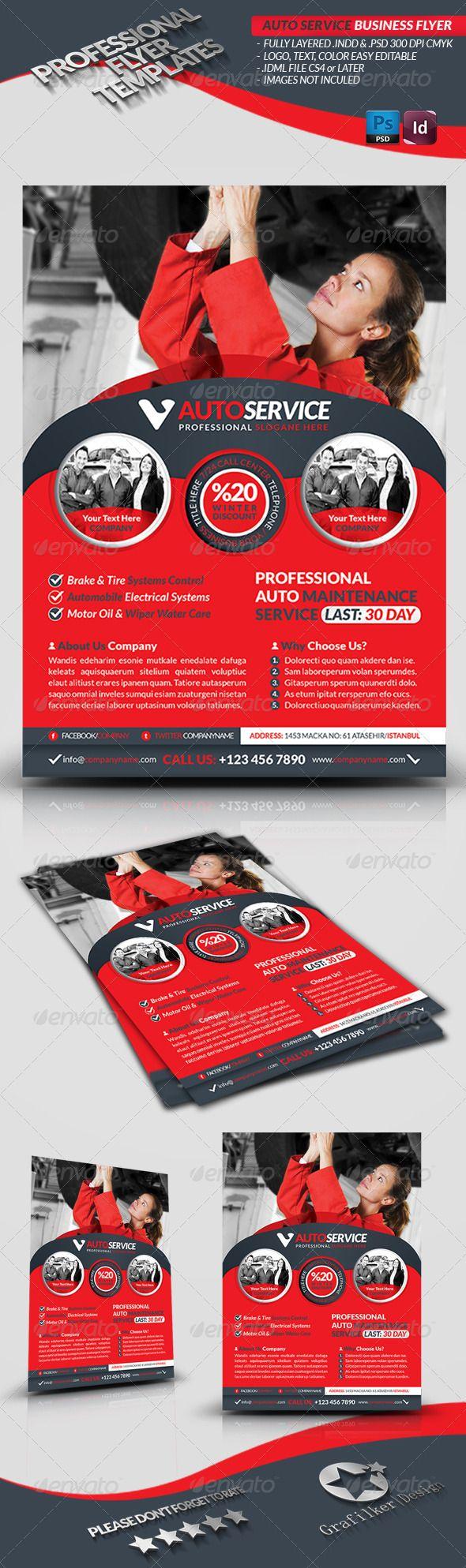 Automobile Service Business Flyer  — PSD Template #automobile service #car care…