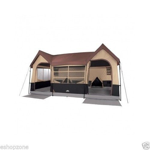 New Large 10 Person Man Family Cabin Tent With Closets