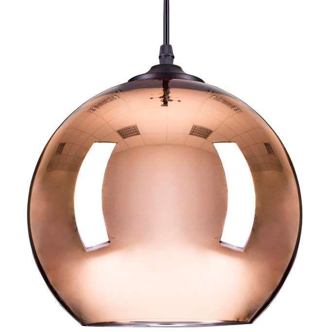 Kulista LAMPA wisząca STEP ST-9021 COPPER szklana OPRAWA zwis ball miedziany