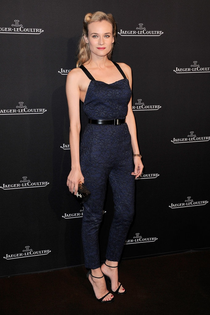 Va-Va-Voom! See the Sexiest Dresses to Hit the Red Carpet in 2012 : Diane Kruger's Jason Wu jumpsuit is a hot alternative to the usual party fare at the Jaeger-LeCoultre boutique opening in Paris.