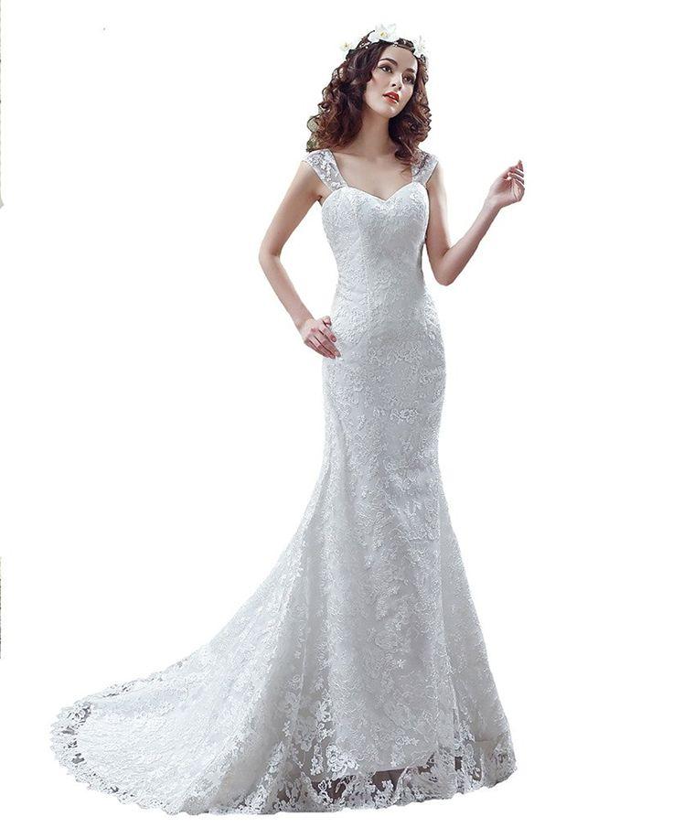 PuTao Women's Bridal Gowns Sweetheart Pleat Beaded Split Side Wedding Dresses at Amazon Women's Clothing store: