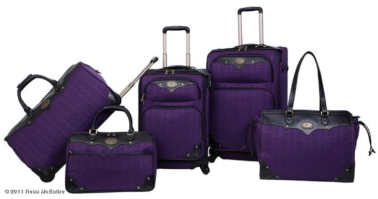 New Reba Mcentire Luggage Collection Dillards In Purple