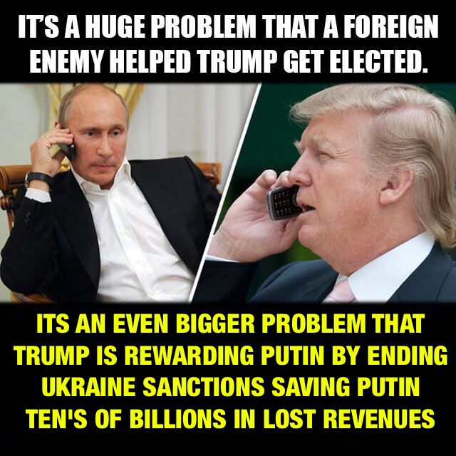 Rewarding a dictator that invades another country because he made you president, seems hard to believe we are talking about the president of the United States.