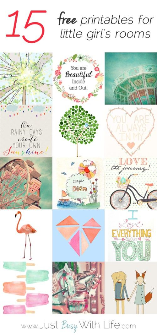 15 Free Printables for Little Girl's Rooms  