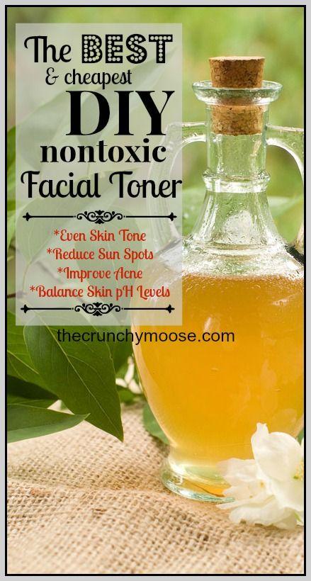 The Best & Cheapest DIY Nontoxic Facial Toner - thecrunchymoose.com