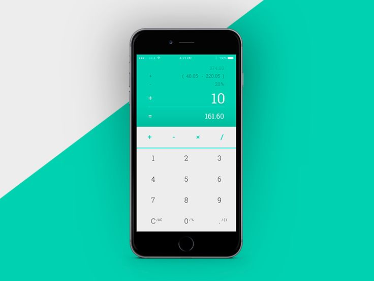 #004 in my (some) #dailyui challenge. A mobile calculator not just for simplest/elementary usage but dealing with my personal needed functionalities.