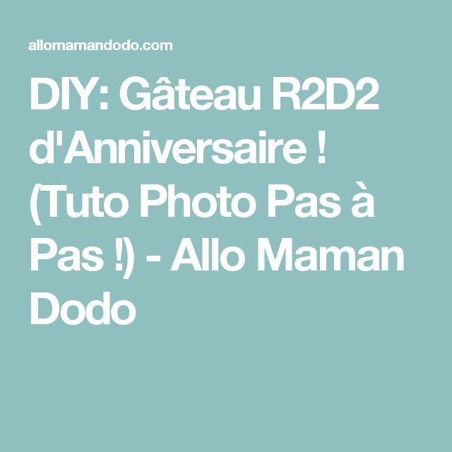 DIY: Gâteau R2D2 d'Anniversaire ! (Tuto Photo Pas à Pas !) - Allo Maman Dodo