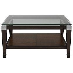 Dunhill Dark Tone Glass Square Coffee Table