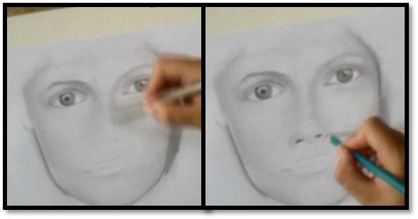 paso 7 para sombrear un rostro