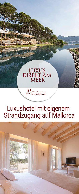 Direkt nach dem Aufstehen eine Runde im Meer schwimmen... Dieses und viele weitere Annehmlichkeiten bietet das neue 5-Sterne Luxushotel Pleta de Mar Luxury Hotel by Nature auf Mallorca in der Bucht von Canyamel.