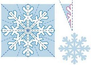 Снежинки из бумаги   Детвора Онлайн
