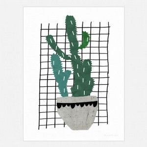 Cactus Art Print - cool wall decor for kids and adults