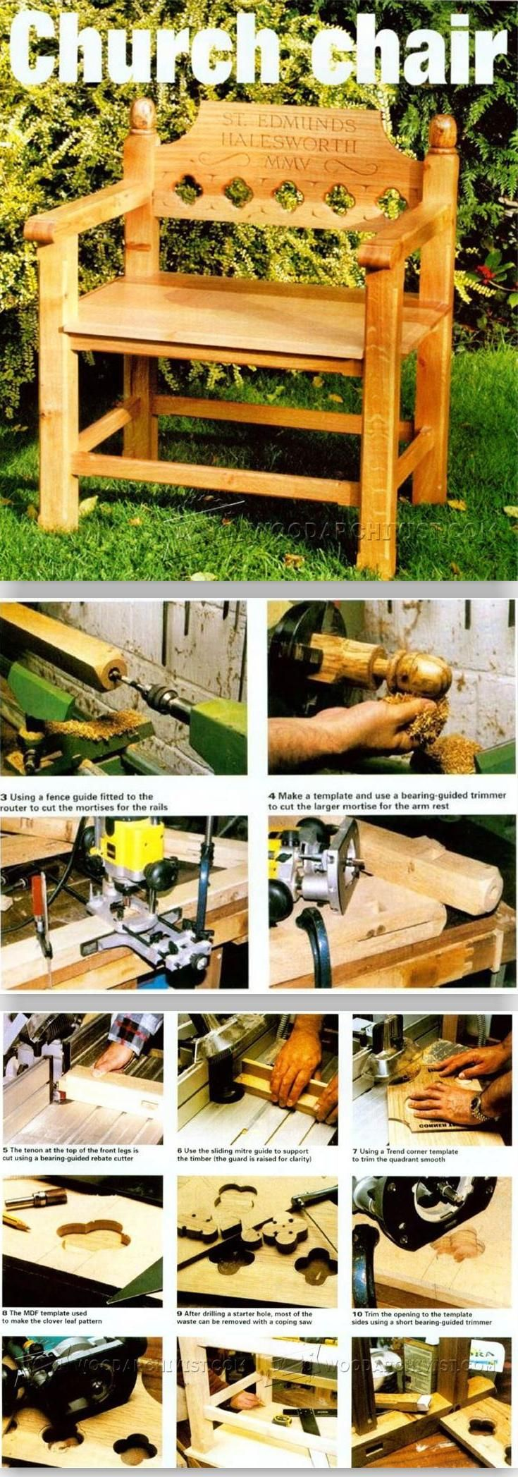 Church Chair Plans - Furniture Plans and Projects | WoodArchivist.com