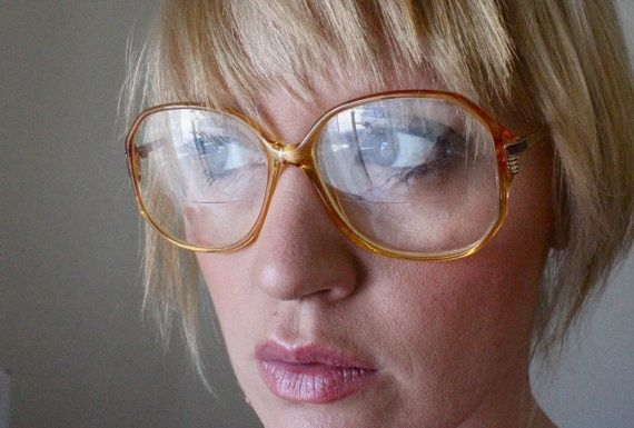 Vintage German Sunset Oversized Eyeglass Frames  – Guys Will Make Passes At Girl… – Brillen Modelle