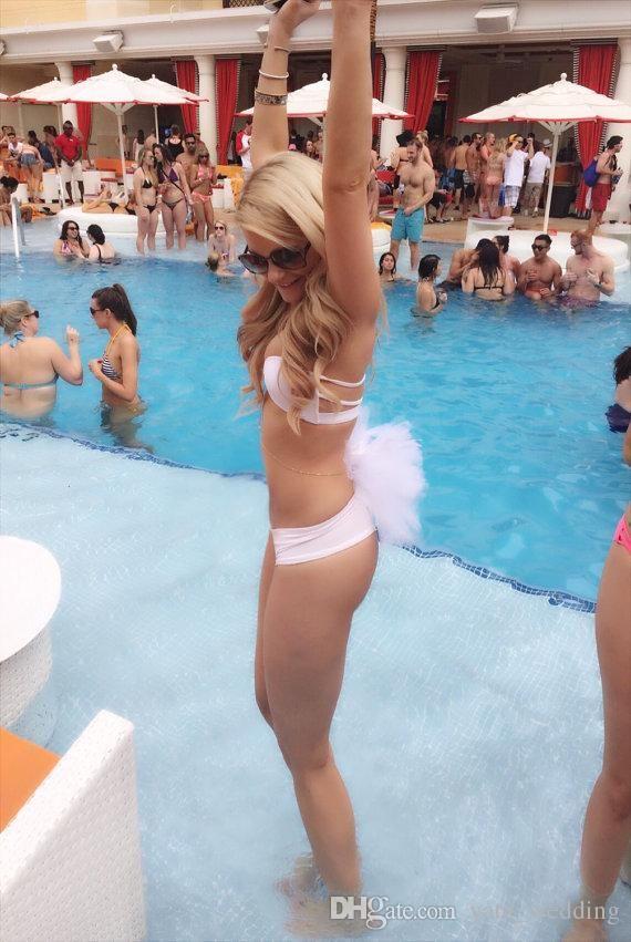 Booty Veil Bachelorette Party Veil Vegas Pool Party Bridal Shower Bikini Veil Tutu Beach Wedding Honeymoon Bathing Suit Veil Booty Poof