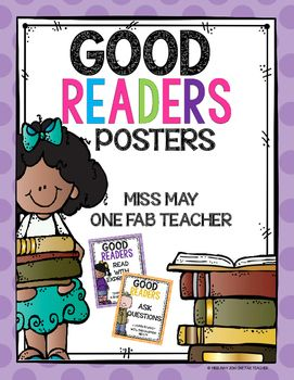 This set of posters are an amazing way to introduce what good readers do. Each poster has a statement about what a good reader does and gives an example of each statement. These posters are kid friendly and easy to understand. I hope enjoy using them!