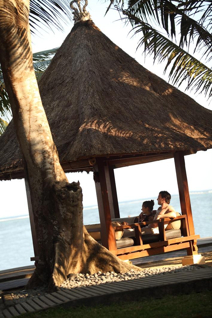 Relaxing at Puri Santrian Resort, Sanur