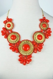 Statement Necklace, Coral