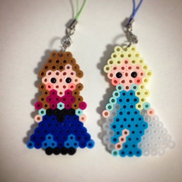 Anna and Elsa - Frozen perler beads by ringo_0122