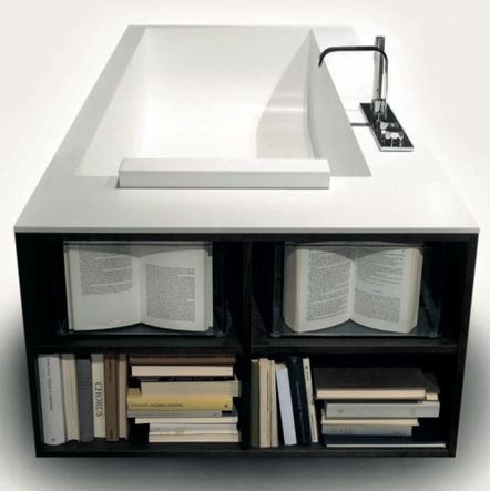 bathtub for reading a good book pin if you like it - Bathroom Remodeling Books