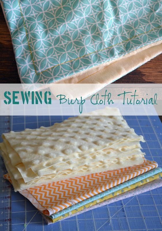 Easy Sewing Tutorial - Minky Burp Clothes for Baby. Sew boutique burp clothes for a fraction of the cost!! #sewing
