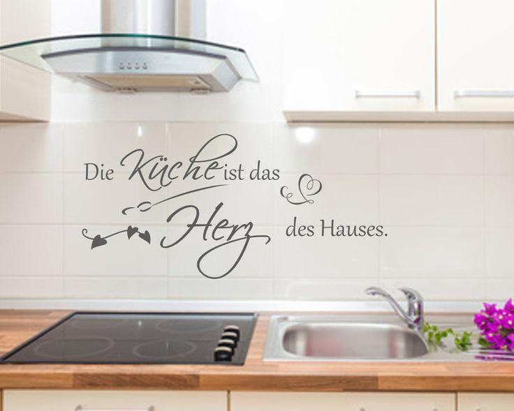 Lovely Wandtattoo Wandspruch K che Herz Haus Wandsticker von MEG Wandtattoos Wall Sticker auf DaWanda