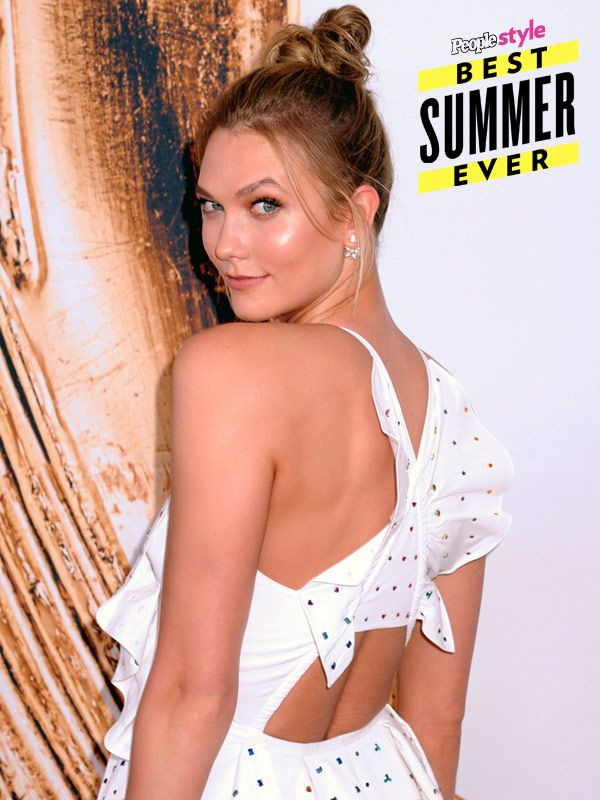 Karlie Kloss' Tousled Knot is Arguably the Best Summer Hairstyle -- Ever http://stylenews.people.com/style/2016/07/01/how-to-get-karlie-kloss-cfda-updo-topknot/