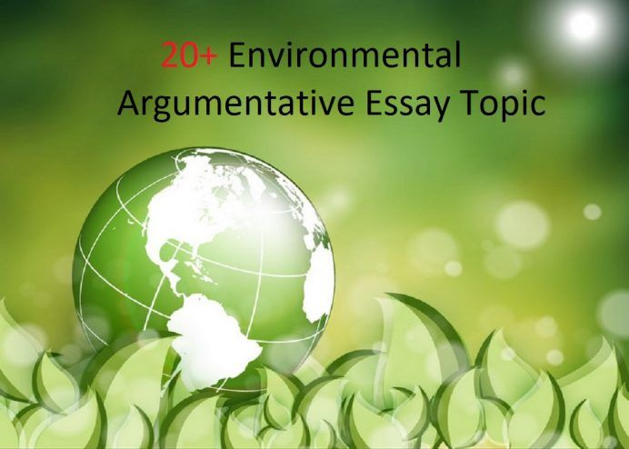 Persuasive essay on environmental issues