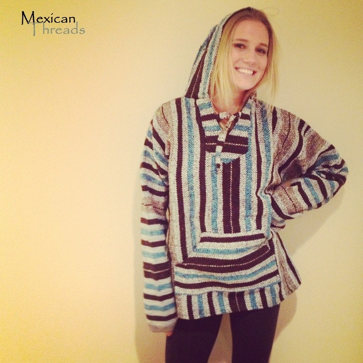 The Aztec Baja Hoodie Drug Rug By Mexican Threads