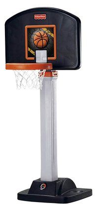 "Fisher-Price I Can Play Basketball $62.97 + 7"" (size3) Spaulding basket ball - adjusts 3'to7'"