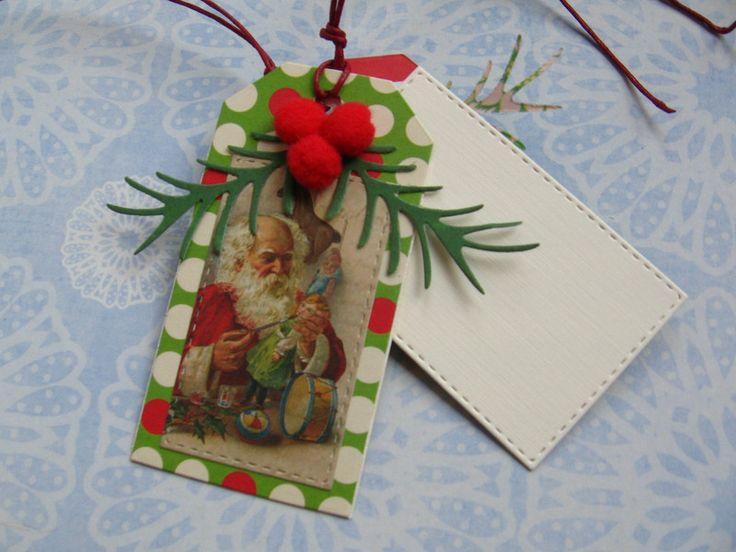 Świąteczna etykieta zawieszka bilecik do prezentu - Projectgallias - Bileciki do prezentów