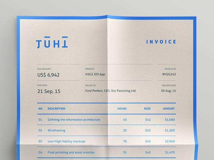 Invoice—Self Branding by Juhi Chitravanshi