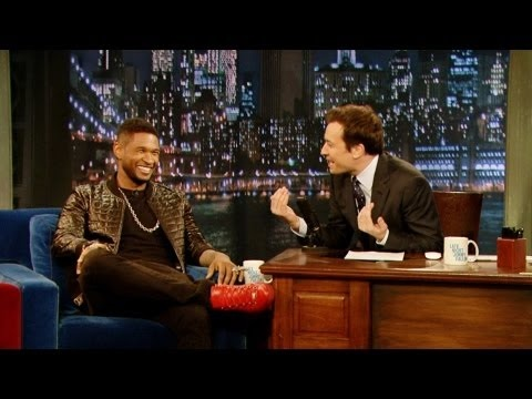 Usher chats with Jimmy Fallon! #TeamUsher #TheVoice