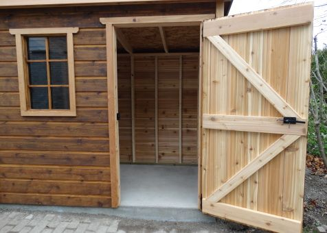 Sarawak shed 5x12 with standard fixed window. In Toronto Ontario. ID number 195929-5.
