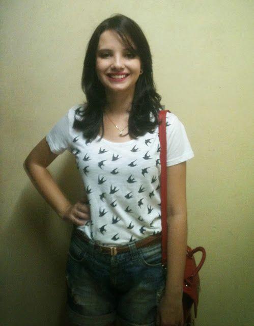 Karinisse: Tutorial estampa de camiseta com andorinhas