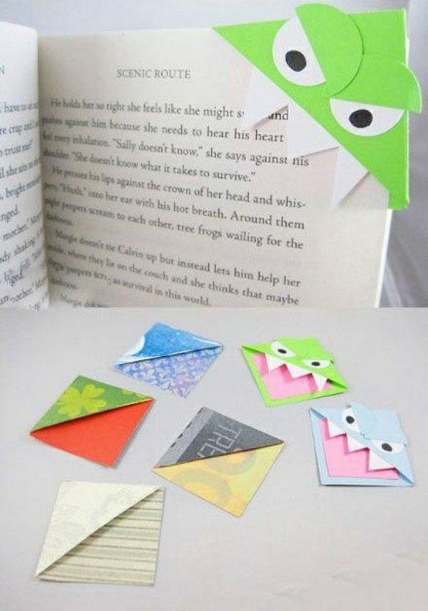 lesezeichen aus buntpapier selber machen